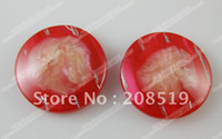 Quilt Accessories Buttons China (Mainland) NB070 invisible holes(1.5mm) red buttons resin 50pcs 21.5mm overcoat buttons women FREE SHIPPING