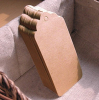 Wholesale Kraft Paper Tags Long Scallop Edge Brown Cardboard Paper Tags Labels With paper Strings
