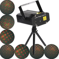 Wholesale New Mini black RG Mobile Laser Stage DJ Party Projector Disco Lighting Support