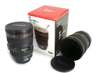 Wholesale plastic sport travel Coffee camera lens mug lens cup generation with Shot hood lid ml caniam via Fedex Shipping