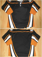 Wholesale Anaheim Blank Black Third No Name No Number V Neck Authentic Hockey Jerseys Cheap Winter High Quality Stitched picture Jersey Sportswear