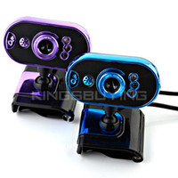 Wholesale USB LED Web Camera PC Laptop With MIC and Light Control Chip Blue Purple