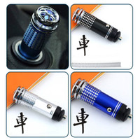Wholesale 12v mini fashion New black blue red cleaner Mini Auto Car Fresh Air Purifier Oxygen Bar Ionizer