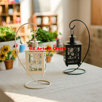 Wholesale Classical Hollow Leaves Candlestick Black White color Wrought Iron Ornaments Craft Gift B1315