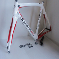 Wholesale 2013 amp Pinarello Dogma65 Think2 carbon road bike Frame with fork seatpost headset by EMS white and red color