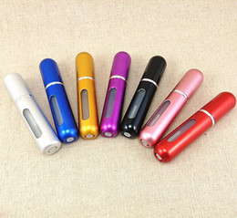 Wholesale Free DHL factory price ML aluminum spray bottles perfume atomizer Cosmetic Containers