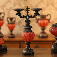 Wholesale Fashion classical vintage resin sticks hallowmas pumpkin candle holder