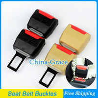 Wholesale 1Pair Universal Metal Car Seat Belt Buckles Safety Extender Buckles mm Hole Black Beige