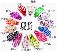 Crochet Hair Clips New Year 2014new Free shipping Fashion skeleton claws skull hand hair clip hairpin Zombie Punk Horror hairwear hairpin bobby pin 18