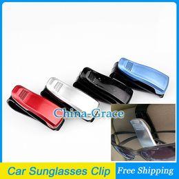 ¡Precio de descuento! Clip del visera del sostenedor de las gafas de sol de los vidrios del coche, clip auto del visera del coche Envío libre