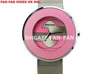 Women's Wristwatches China (Mainland) 10pcs+10pcs+10pcs+Fashion Lady! Simple Novel Metal Band Round Dial Quartz Movement Wrist Watch -Pink