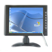 "10'' Desktop 4:3 10.4"" inch Stand Touch Screen LCD Monitor w VGA TFT FR free shipping"