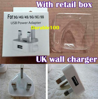 For Apple iPhone Direct Chargers  UK wall Charger adapter Full 5V 1A High Quality 1000MA USB Wall Charger for Iphone 4 4s 5 5S 5C Note 3 NOTE III N9000 300pcs up.