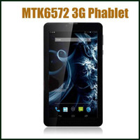 Wholesale Freeshipping Inch G Phablet Android MTK6572 Dual Core Dual GHz G Phone Call GPS Bluetooth Dual Camera Tablet PC MQ20