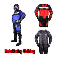 Wholesale Moto Racing clothing DUHAN motorcycle ride jackets pants automobile race trousers motorbike riding clothes jacket pant