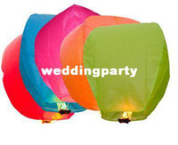 Christmas Event & Party Supplies  Wholesale Colorful Wedding Balloons Flying Paper Sky Lanterns Chinese Paper Wish Floating Lamps Lights Birthday Party Decoration
