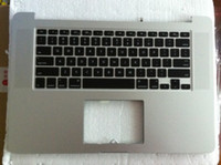 Wholesale Brand new For Macbook Pro Retina inch A1398 Topcase With Keyboard US layout Late Top Case Upper Case ME293 ME294