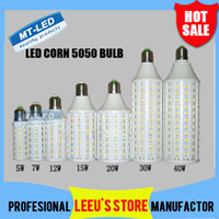 Wholesale Epacket Ultra bright Led Corn light E27 E14 B22 SMD V W W W W W W W LED bulb degree Lighting Lamp