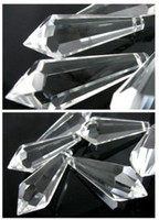 Wholesale 130pcs CLEAR MM CHANDELIER GLASS CRYSTALS LAMP PRISMS PARTS HANGING DROPS SHIPPING FREE