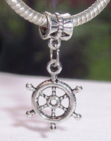 antique ships wheel - Hot Antique Silver Captain s Ship Wheel Nautical Dangle Bead For European Charm Bracelets mm x mm z056