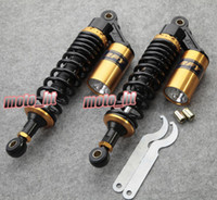 Wholesale Universal quot mm Suspension Air Shocks Absorber for Yamaha Honda Kawasaki Suzuki ATV Quad Bike Motorcycle Gold A Pair