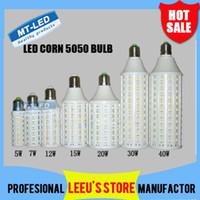 Wholesale X20 DHL Ultra bright Led Corn light E27 E14 B22 SMD V W W W W W W W LED bulb degree Lighting Lamp