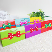 Wholesale Cheap Wedding Gift Bowknot Candy Box Paper Chocolate Box for Wedding ZH0314