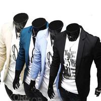 blazer jacket men - Suits men high quality Mens casual Suits Blazers slim fit Jacket fashion Blazer Coat Button suit Business men Formal suit jacket
