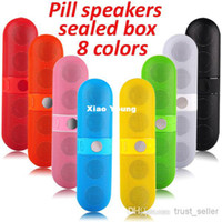 Wholesale Pill Wireless Speaker Portable Lightweight Bluetooth speaker Audio Big Sound HIFI colorful sealed box