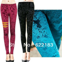 Foot Cover Women Leggings Flannel Print New Style Women Fashion Legging Autumn Colourful Ninth Pants Green Black 7 Colors 12251