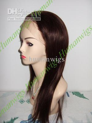 Wholesale - Full lace wigs,remy indian hair,16 ,chocolate brown #4
