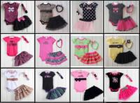 achat en gros de pantalons zèbre volants-DHL Fedex EMS Ship Summer Girls Tutu 3pc met en scène les jupes de genoux de zèbre leopand des filles + baby tutu pantalon de jupe de volants + bandeaux de fleurs de filles