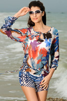 artistic bikini - swimwear hot sale beach tunic Gauzy Artistic sexy women summer Beach Dress LC40707
