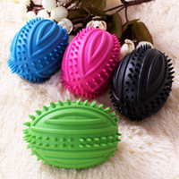 Wholesale Italian football Xiao barbed vocal sound bite resistant pet dog toys molar tooth cleaning ball toys