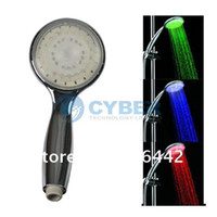 Wholesale Holiday Sale NEW LED Light Wall Mount Showers Head Water Bathroom RGB Three Colors