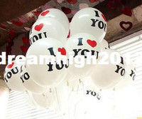 Wholesale I LOVE YOU Korean white printing thicker inch balloon Christmas carnival balloons arranged marriage room