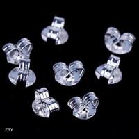 Wholesale 925 sterling Silver Earring Back Butterfly Shape Ear Stud Stopper Plug Charms Jewelry Finding ZBY