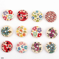 Wholesale 50g Colorful Flowers Wooden Loose Beads Chic Buttons For Necklace Bracelets DIY ZCR4 g