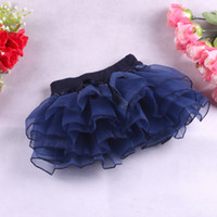 spandex clothing - 4colors Tiered Skirts Baby Girls Skirts Pleated Skirt Children Clothing Fashion Spandex Lycra Princess Skirts
