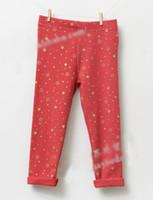 Wholesale 2014 Korean version of the new girls leggings multicolor gold stars jxx c