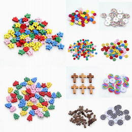 Wholesale Brand New Sewing Wooden Buttons Scrapbooking Loose Beads Craft For Clothes Decoration ZFI