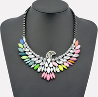 Pendant Necklaces Bohemian Women's High Quality Women Luxury Costume Fashion Chunky Necklaces & Pendants Chokers Crystal birds Gorgeous Statement jewelry
