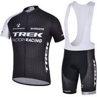 trek - Black TREK Bib Bicycle Jersey Summer Cool Fashion Wear Cycling Jersey Sets Breathable Quick Dry Close fitting Cycling Wear