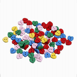 Wholesale Love Wooden Beads - 50g lot Lovely Heart Wooden Loose Beads Fashion Jewelry For Necklace Bracelets DIY ZFI11*50g