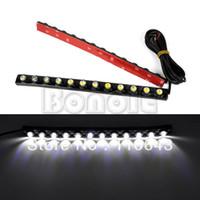 TK0003# LED 5 New 12V White 2X Car DIY 12 LED DRL Driving Daytime Running Light Bar Soft Head Lamp TK0003