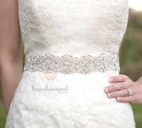 Satin crystal belts - 2015 Stunning New Fashion Lacing Back Bowknot Dazzling Beaded Crystals and Sequins Wedding Sash Bridal Belt