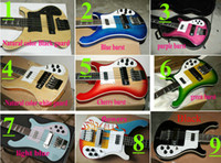 Wholesale Custom Strings Electric Bass Guitar More color choices Black Blue High Quality Top Bass Guitar Hard case