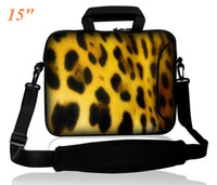 Wholesale Colorful quot quot Laptop Shoulder Bag External Pocket for Adapter Mouse amp Zipper Closure LEOPARD Printed on Front and Back Sides