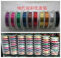 Cord & Wire   0.3 0.4 0.5mm copper wire colorful jewelry wire diy material wholesale 10 color lot free shipping(MS1452-1)