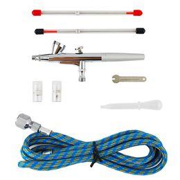 Wholesale Air Brush amp amp mm Spray Single Action Airbrush Gun Kit for Nail Paint Art Drawing